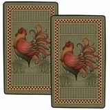 "Decorative Styled Burner Kovers Rectangle ""Rooster"" by Range Kleen"