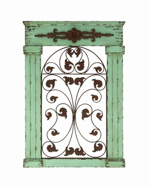 "Decorative Wooden and Metal Wall D�cor 42"" Height Brand Woodland"