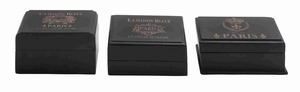 Decorative Wooden Box with Classic and Modern Style in Black Brand Woodland