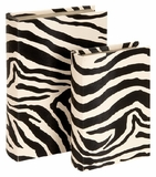 Decorative Zebra Faux Leather and Wood Book Boxes - Set of 2 Brand Woodland
