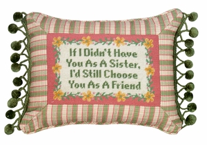Dedicated If I Didn't Have Petit-Point Pillow by 123 Creations