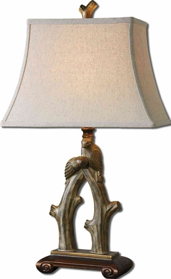 Delena Table Lamp Crafted with SandStone Detailing Brand Uttermost