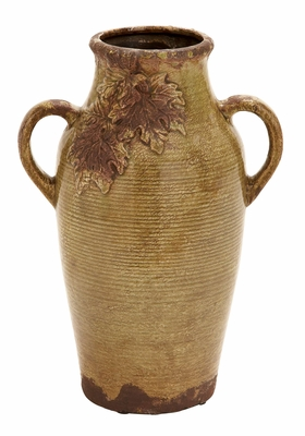 Delicate Ceramic Vase in Yellow Finish with Modern Design Brand Woodland
