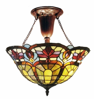 Delightful and Colorful Victorian Pendant Lamp by Chloe Lighting