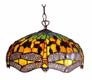 Delightful and Dashing Dragonfly Pendant Lamp by Chloe Lighting