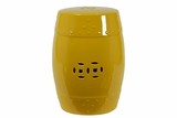 Delightful Ceramic Garden Stool Yellow