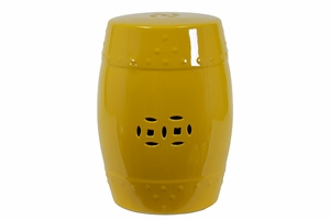 Delightful Ceramic Garden Stool Yellow by Urban Trends Collection