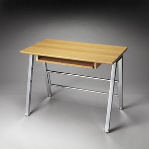 Delightful Turco Bamboo Computer Desk by Butler Specialty