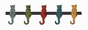 Derby Funky Styled Metal Cat wall hooks Brand Benzara