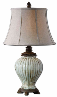 Dernice Aged Ceramic Table Lamp Crafted with Detailing Brand Uttermost