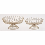 Designer Metal Gold Cake Stand 2 Assorted
