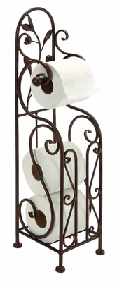 Designer Metal Toilet Paper Holder With Magazine Rack Brand Woodland