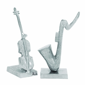 Designer Musical Instrument Sculpture Work - Set of 2 Brand Woodland