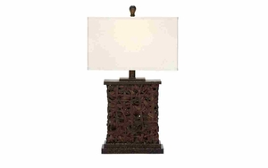 Designer Rattan Wood Table Lamp with Shade, Rattan Table D_cor Brand Woodland