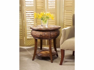 "Designer's Edge Round End Table 24""Diam. by Butler Specialty"