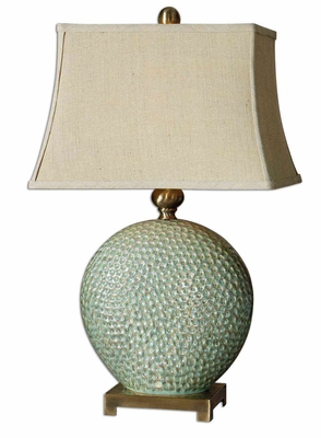 Destin Ceramic Table Lamp with Bronze Metal Detailing Brand Uttermost