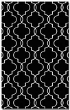 Devonshire Black 9' Woven Wool Rug with Off White Details Brand Uttermost