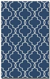 Devonshire Blue 8' Woven Wool Rug with Off White Details Brand Uttermost