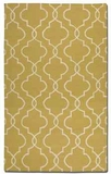 Devonshire Gold 8' Woven Wool Rug with Off White Details Brand Uttermost