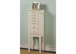 Diamond 6 Drawer Jewelry Armoire with Height Adjustable Shelves Brand Nathan