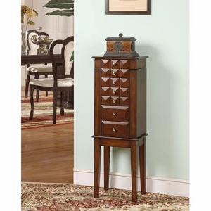 Diamond 6 Drawer Jewelry Armoire with Two Sliding Shutters Brand Nathan