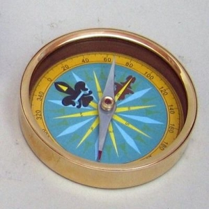 Directional Compass Colored Brass Anytime Gift For Nautical Enthusiasts Brand Woodland Imports
