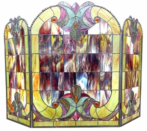 Distinctive and Colorful Fireplace Screen by Chloe Lighting