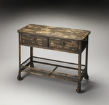 Distinctive Crenshaw Industrial Chic Console Table by Butler Specialty