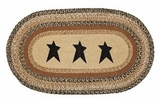 Distinctive Kettle Grove Jute Rug Oval Stencil Star by VHC Brands