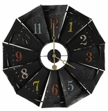Distressed Flat Black Finish Attractive Kepler Clock by Cooper Classics