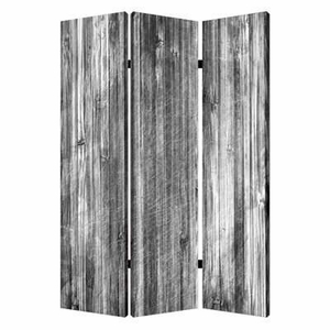 Distressed Wood Canvas Screen Crafted with Intricate Detailing Brand Screen Gem
