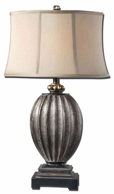 Diveria Table Lamp Crafted with Textured Base Brand Uttermost