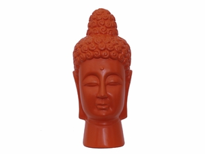 Divine Featured Ceramic Buddha Head Orange