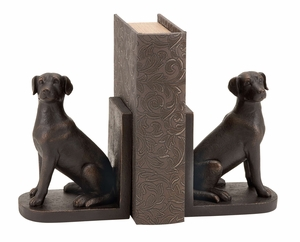 Dog Statue Polystone Dog Sculpture for Bookends Brand Woodland