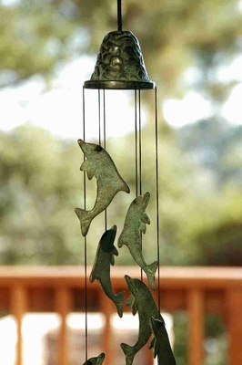 Dolphin Wind Chime Tuned Perfectly For Melodious Sound Brand SPI-HOME