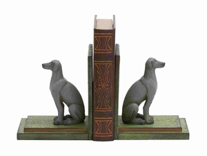 Dortmund Bookend Pair Dog Sculpted Dynamic Creation Brand Benzara
