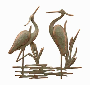 Double Garden Heron Wall Plaque Designer Class Wall Decor Brand SPI-HOME