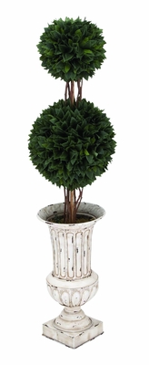 Double Grass Ball Tree In Durable And Sturdy Plastic Construction - 20523 by Benzara