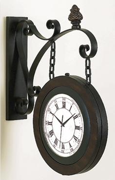 Double Sided Railway Clock, Grand Central Train Stations Clocks Brand Woodland