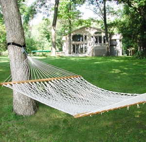 Double size 13' Cotton Rope Hammock by Alogma