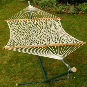 Double size 15' Cotton Rope Hammock by Alogma