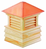 "Dover Cupola 48"" x 65"" - Cypress Wood and Copper by Good Directions"