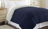 Down Alternative Reversible Queen Size Comforter in Eclipse/Silver�