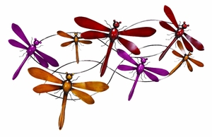 "Dragonfly Country Metal Wall Decor Sculpture 20""x33"" Brand Woodland"