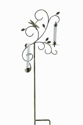 Dragonfly Rain Gauge & Thermometer With Utmost Easy Scale Brand SPI-HOME