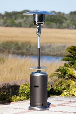 Drammen Patio Heater Glorious Utility with Easily Adjustable Table by Well Travel Living