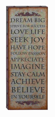 Dream Big Sign Wall Decor with Rustic Finish And Robust Design Brand Woodland