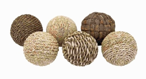 Dried Decorative Ball with Casual and Simple Design (Set of 6) Brand Woodland