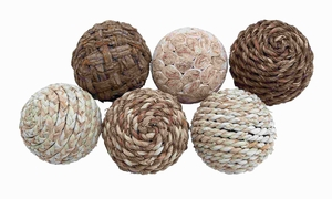 Dried Decorative Ball with Quality Plant Material (Set of 6) Brand Woodland