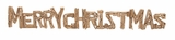 """Driftwood Merry Christmas Sign Set of 2 46"""", 25""""H by Woodland Import"""
